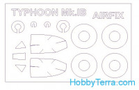 Mask 1/72 for Hawker Typhoon Mk.IB and wheels masks, for Airfix kit