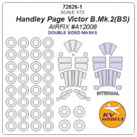 Mask 1/72 for Handley Page Victor B.Mk.2(BS) + wheels (Double sided), Airfix kits