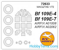 Mask 1/72 for Bf-109 E-3 / E-4 / E-7 and wheels masks, for Airfix kit