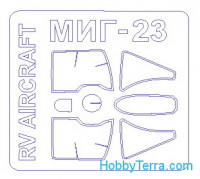 Mask 1/72 for MIG-23ML / MLD / MF / P, for R.V. Aircraft kit