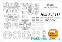 Mask 1/72 for He-111 (all modifications) and wheels masks, for Roden kit