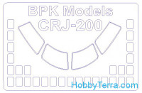 Mask 1/72 for CRJ-100/200, for BPK kit