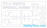 Mask 1/72 for TT-1 Pinto and wheels masks, for Special Hobby kit