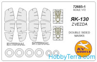 Mask 1/72 for Yak-130 (Double sided) + wheels, for Zvezda kit