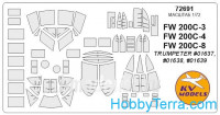 Mask 1/72 for FW-200C-3, FW-200C-4, FW-200C-8 Condor, for Trumpeter kit