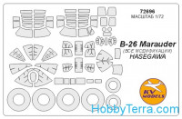 Mask 1/72 for B-26 Marauder (all modifications) + wheels, for Hasegawa kit