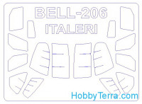 Mask 1/72 for Bell 206 / OH-58A Kiowa, for Italeri/Tamiya kit