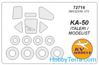 Mask 1/72 for Kamov Ka-50 and wheels masks, for Italeri kit