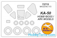 Mask 1/72 for Kamov Ka-50 and wheels masks, for Hobby Boss kit