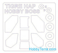 Mask 1/72 for Tigre Hap and wheels masks, for Hobby Boss kit