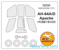 Mask 1/72 for Kamov AH-64 Apache and wheels masks, for Hobby Boss kit