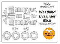 Mask 1/72 for Westland Lysander Mk.II + wheels, Revell kit