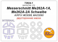 Mask 1/72 for Messerschmitt Me262A-1A, Me262A-2A Schwalbe - Double sided (AirFix)