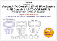 Mask 1/72 for Vought A-7A Corsair-II VA-93 Blue Blazers/A-7E Corsair II/A-7D CORSAIR 11 - Double sided (Fujimi)