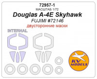 Mask 1/72 for Douglas A-4E Skyhawk (Double sided) + wheels masks (Fujimi)