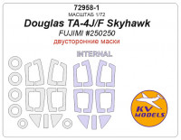Mask 1/72 for Douglas TA-4J/F Skyhawk (Double sided) + wheels masks (Fujimi)