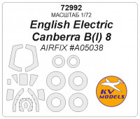 Mask 1/72 for English Electric Canberra B(I) 8 + wheels masks (AirFix)