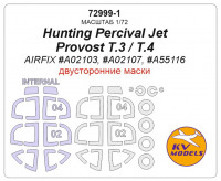 Mask 1/72 for Hunting Percival Jet Provost T.3/T.4 (Double sided) + wheels masks (AirFix)