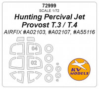Mask 1/72 for Hunting Percival Jet Provost T.3/T.4 + wheels masks (AirFix)