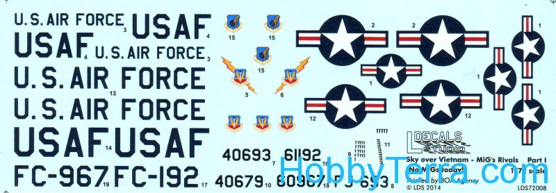 Decal 1/72 for Sky over Vietnam - MiG's Rivals, Part 1