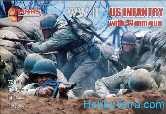 US infantry with 37mm gun