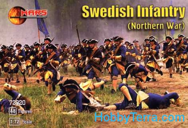 Mars Figures  72020 Swedish infantry (Northern War)