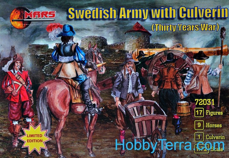 Swedish Army with culverin, Thirty Years War