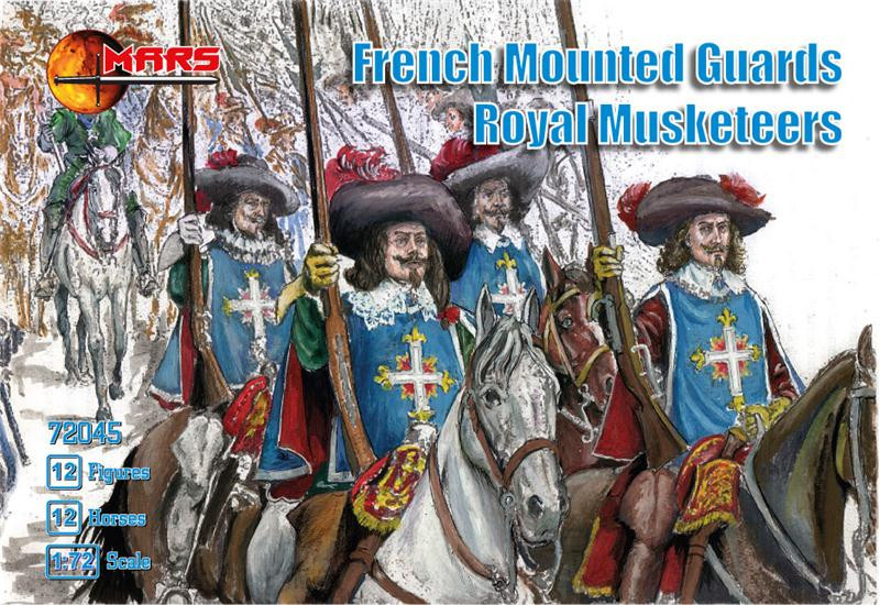 Mars Figures  72045 French mounted guards, Royal Musketeers