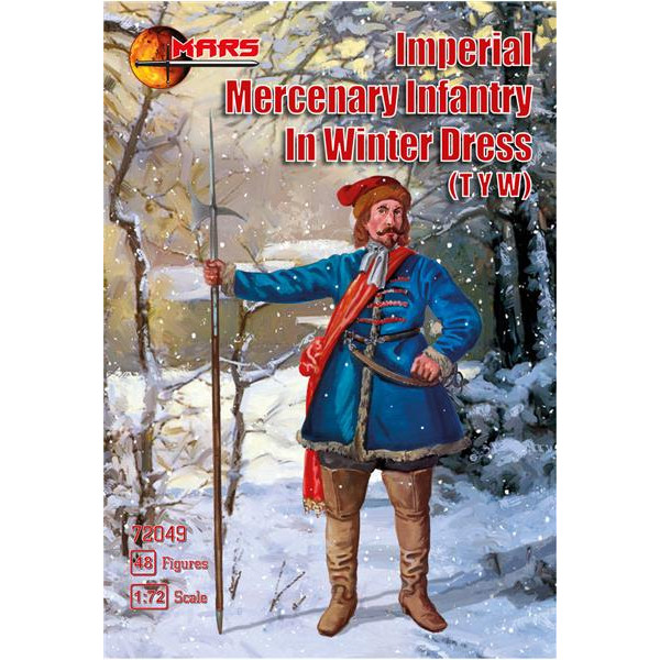 Imperial Mercenary infantry in winter dress, Thirty Years War
