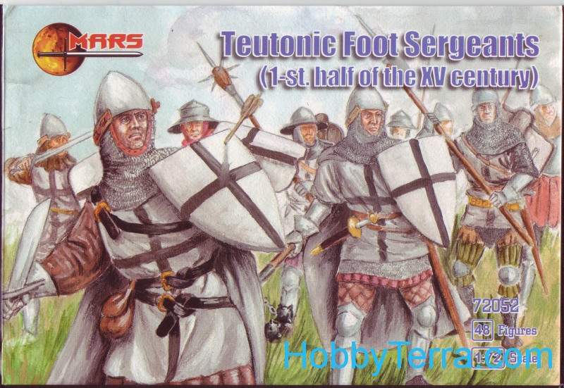 Mars Figures  72052 Teutonic foot sergeants, 1st half of the XV century