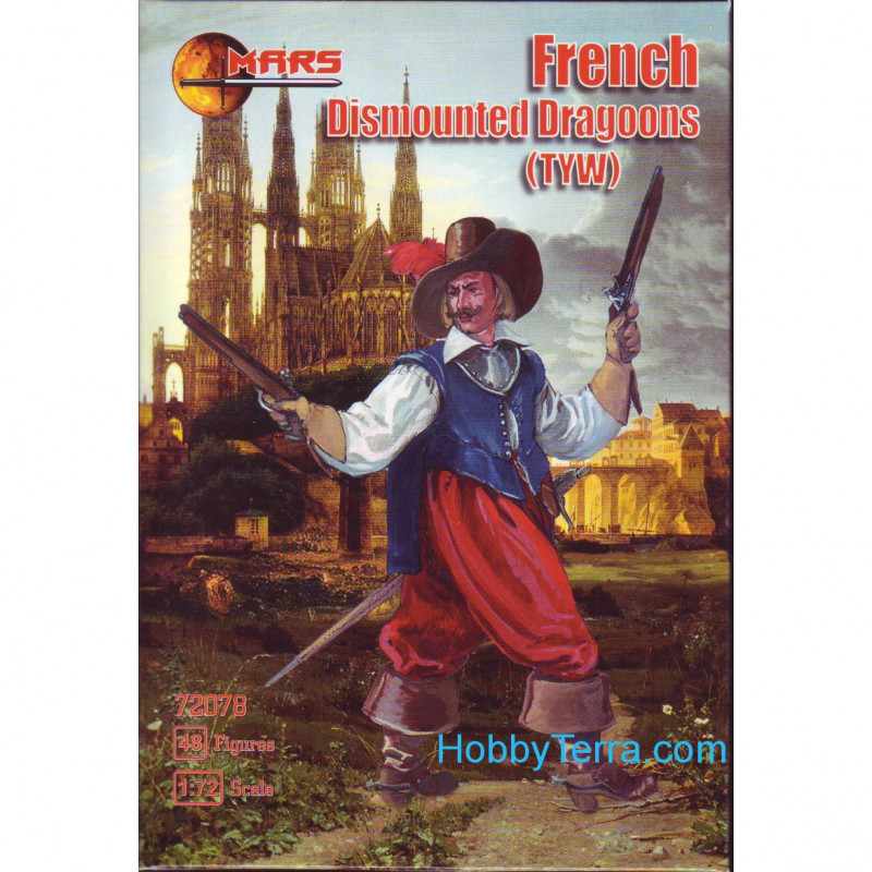 Mars Figures  72078 French Dismount dragoons