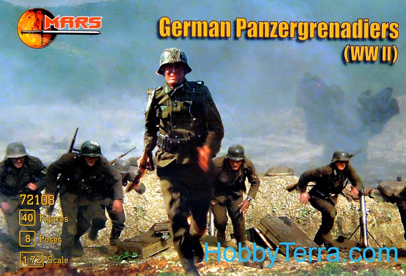 Mars Figures  72108 WWII German panzergrenadiers