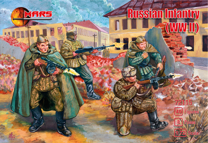 Mars Figures  72115 Russian Infantry (WWII)