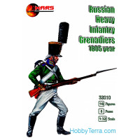 Russian heavy infantry grenadiers, 1805 year