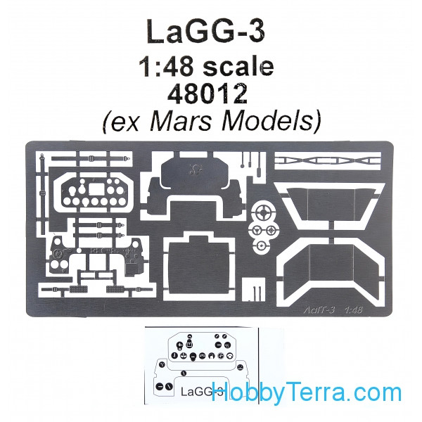 Photo-etched set 1/48 for LaGG-3