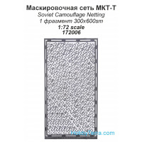 Photo-etched set 1/72 Soviet camouflage netting MKT-T