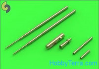 MiG-17A/P/F (Fresco A, B, C) - 37mm and 23mm gun barrels set & Pitot Tubes
