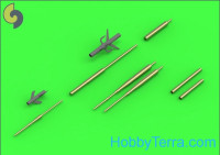 Su-17, Su-20, Su-22 (Fitter) - Pitot Tubes (optional parts for all versions) and 30mm gun