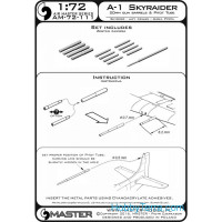 Master  72-111 A-1 Skyraider - 20mm cannon barrels and Pitot Tube