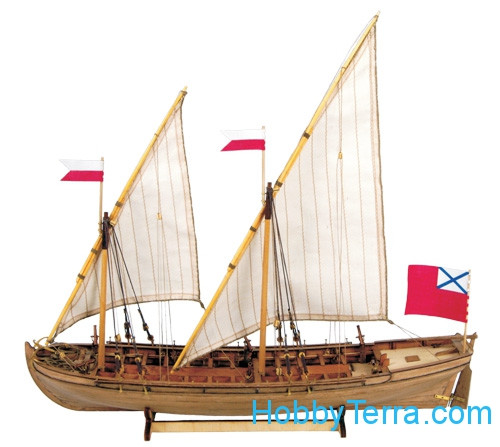 Master Korabel  0201 'Dubbel' boat of Russian Imperial Navy, 1736-1737, wooden kit