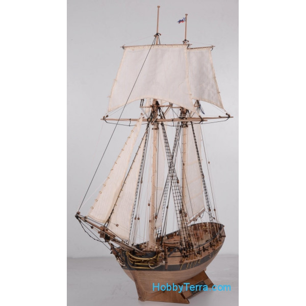 "Schooner ""Polotsk"", 1788, wooden kit (plus boat)"