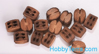 Double block 4mm, pear 10pcs