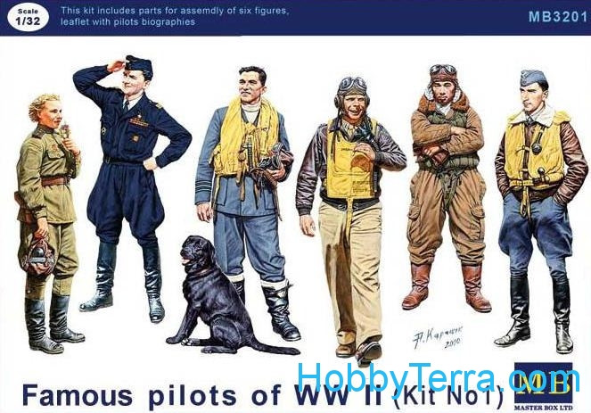 Master Box  3201 Famous pilots of WWII. kit 1