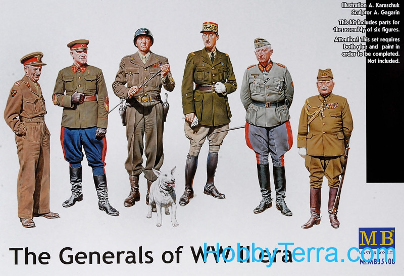 Master Box  35108 The Generals of WWII
