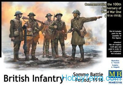 British infantry, Somme battle, 1916