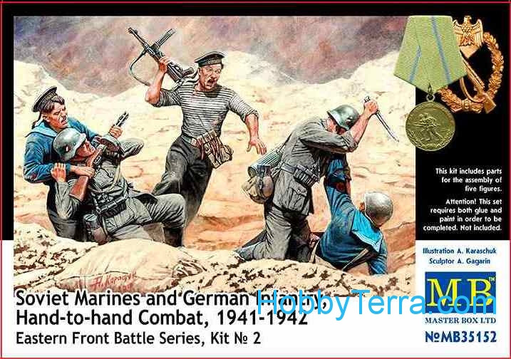 Soviet marines and German infantry, Hand-to-Hand, 1941-1942. Eastern Front, kit 2