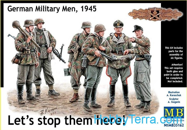 "Master Box  35162 ""Let's stop them here!"" German military men, 1945"