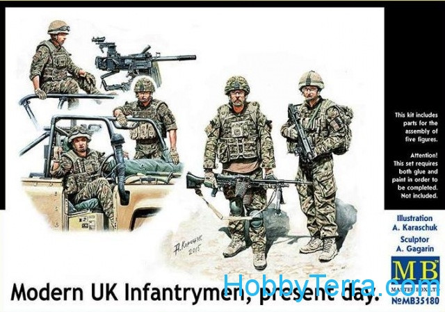 Master Box  35180 Modern UK infantrymen, present day
