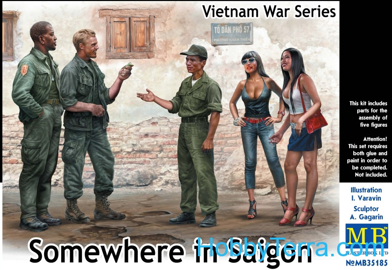 Master Box  35185 Somewhere in Saigon, Vietnam War Series