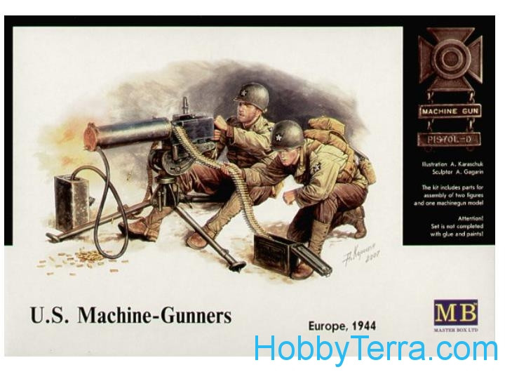 US machine-gunners, Europe 1944